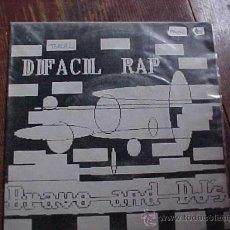 Discos de vinilo: BRAVO AND DJ'S. DIFACIL RAPP. DISCO PROMOCIONAL. IMPACT RECORDS 1989. Lote 16600786