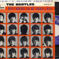 Discos de vinilo: EP THE BEATLES: A HARD DAY´S NIGHT + I SHOULD HAVE KNOWN YOU BETTER + 2. Lote 19440754