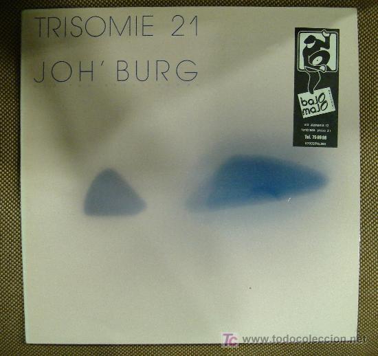 LP DE TRISOMIE 21. JOH´ BURG. (Música - Discos - LP Vinilo - Pop - Rock - New Wave Extranjero de los 80)