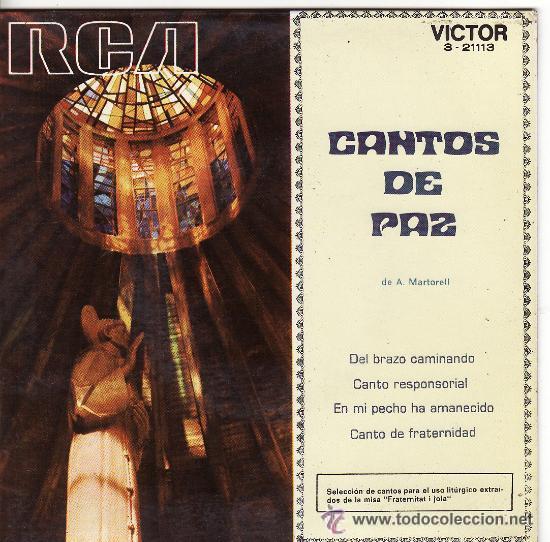 ))) SL03 -CANTOS DE PAZ - SOLISTAS : ALFONSO GARCÉS Y Mª MERCEDES VALIMAÑA (Música - Discos - Singles Vinilo - Otros estilos)