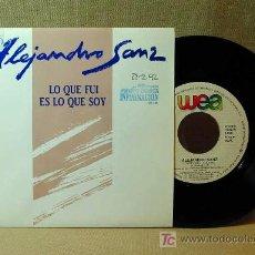 Discos de vinilo: DISCO, SINGLE PROMOCIONAL, ALEJANDRO SANZ, LO QUE FUI ES LO QUE SOY, Nº 1439, 1991, POP ESPAÑOL. Lote 19134579