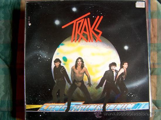 LP - TRAKS - LONG TRAIN RUNNING - ORIGINAL ESPAÑOL, POLYDOR 1982 (Música - Discos - LP Vinilo - Heavy - Metal)