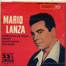 Discos de vinilo: MARIO LANZA / SERENATA DE LAS MULAS + 3 (EP RCA 61) TEMAS EN PORTADA. Lote 16720973