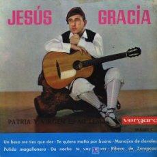 Discos de vinilo: JESÚS GRACIA - UN BESO ME TIES QUE DAR / TE QUIERO MOÑA POR BUENA, ETC - EP 1963. Lote 16742604