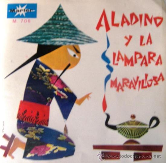 ALADINO Y LA LÁMPARA MARAVILLOSA - VINILO ROJO - 1967 (Música - Discos - Singles Vinilo - Música Infantil)