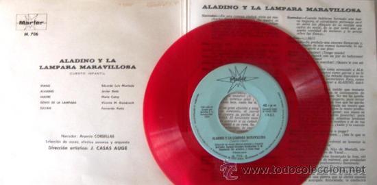 Discos de vinilo: ALADINO Y LA LÁMPARA MARAVILLOSA - VINILO ROJO - 1967 - Foto 2 - 27377599