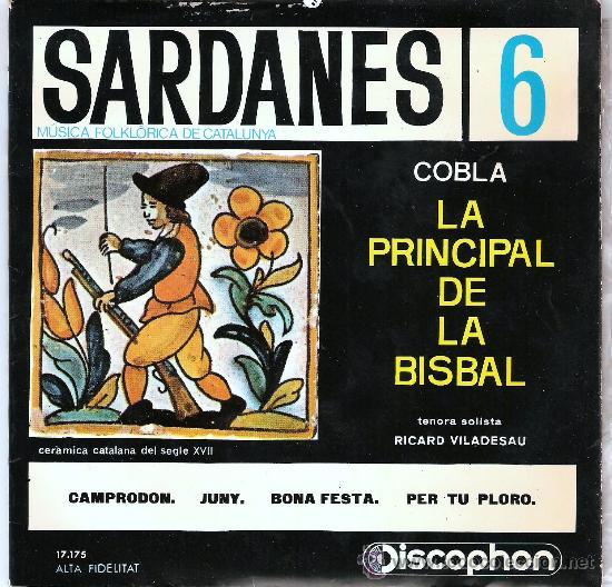SARDANES COBLA LA PRINCIPAL DE LA BISBAL (Música - Discos - Singles Vinilo - Étnicas y Músicas del Mundo)