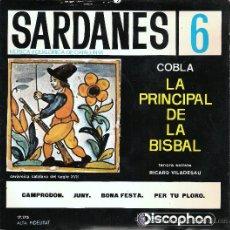 Discos de vinilo: SARDANES COBLA LA PRINCIPAL DE LA BISBAL. Lote 24169903