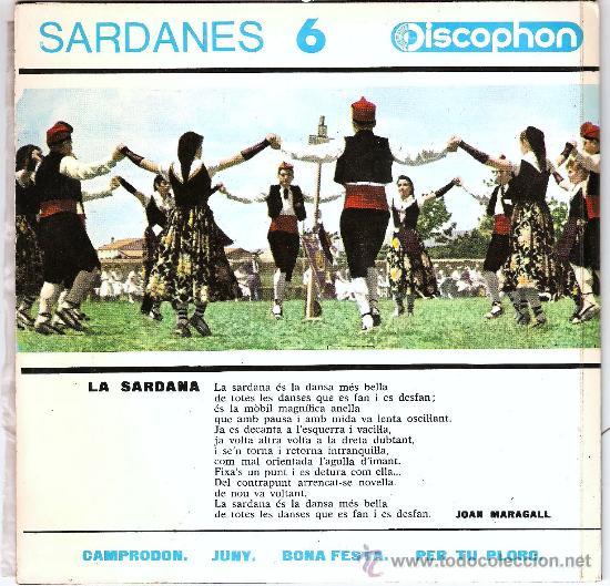 Discos de vinilo: SARDANES COBLA LA PRINCIPAL DE LA BISBAL - Foto 2 - 24169903
