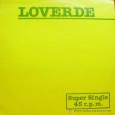 Discos de vinilo: LOVERDE-DIE HARD LOVER + MY WORLD IS EMPTY MAXI 1982 SPAIN. Lote 16777409