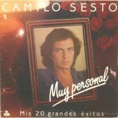 Discos de vinilo: CAMILO SESTO MUY PERSONAL DOBLE LP CARPETA ABIERTA ARIOLA 1982. Lote 16795751