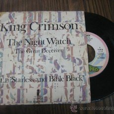 Discos de vinilo: KING CRIMSON THE NIGHT WATCH MADE IN SPAIN 1974 ESTADO BUENO LA CARATULA SUFRIDA VER FOTO ES EL MISM. Lote 16807012