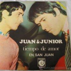 Discos de vinilo: JUAN Y JUNIOR - TIEMPO DE AMOR / EN SAN JUAN - SINGLE NOVOLA, 1968. Lote 16810361
