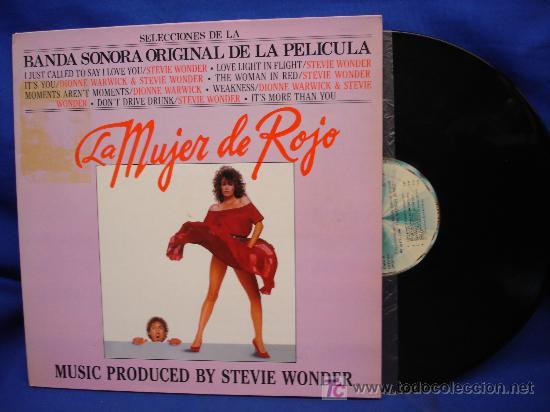 - BANDA SONORA ORIGINAL DE LA PELÍCULA LA MUJER DE ROJO MUSICA DE STEVIE WONDER (Música - Discos - LP Vinilo - Bandas Sonoras y Música de Actores )