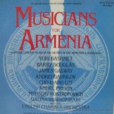 Discos de vinilo: MUSICIANS FOR ARMENIA - ROSTROPOVICH Y LA ENGLISH CHAMBER ORCHESTRA - 1989 (EDICIÓN ALEMANA). Lote 27106741