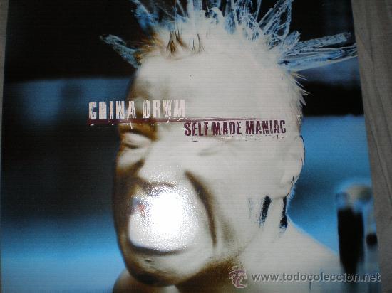 CHINA DRUM-SELF MADE MANIAC-LP-UK 1997.CON FUNDA INTERIOR. (Música - Discos - LP Vinilo - Punk - Hard Core)