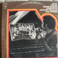 Discos de vinilo: LP - ANTHONY NEWMAN AND FRIENDS - BACH:THE SIX BRANDERBURG CONCERTOS - DOBLE DISCO. Lote 16849344