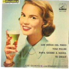 Discos de vinilo: JOSE GUARDIOLA - LOS NIÑOS DEL PIREO ** EP LA VOZ DE SU AMO 1960. Lote 19075817
