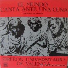Discos de vinilo: ORFEÓN UNIVERSITARIO DE VALENCIA - EL MUNDO CANTA ANTE UNA CUNA - 1984. Lote 53428691