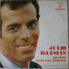 Discos de vinilo: JULIO IGLESIAS - YO CANTO - SINGLE DE 1969. Lote 16873626
