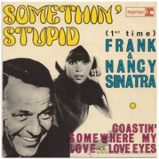 Discos de vinilo: FRANK SINATRA+NANCY SINATRA – SOMETHIN' STUPID – EP FRANCE 1967 – REPRISE/VOGUE 60100. Lote 18263830