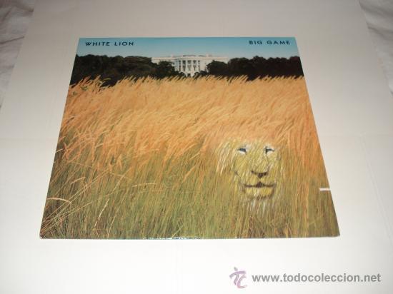 WHITE LION / BIG GAME - MIKE TRAMP - LP MADE IN USA 1989 CON ENCARTES / LETRAS ORIGINALES!! (Música - Discos - LP Vinilo - Heavy - Metal)