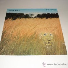 Discos de vinilo: WHITE LION / BIG GAME - MIKE TRAMP - LP MADE IN USA 1989 CON ENCARTES / LETRAS ORIGINALES!!. Lote 26837077