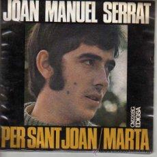 Dischi in vinile: DISCO DE JOAN MANUEL SERRAT. PER SANT JOAN/MARTA.. Lote 21829003