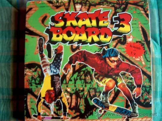 LP - SKATE BOARD 3 - VARIOS - DOBLE DISCO, ORIGINAL ESPAÑOL, BLANCO Y NEGRO MUSIC 1991 (Música - Discos - LP Vinilo - Disco y Dance)