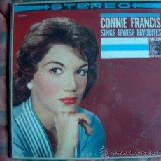 Discos de vinilo: LP - CONNIE FRANCIS - SINGS JEWISH FAVORITES - ORIGNAL AMERICANO, MGM SIN FECHA. Lote 19359306