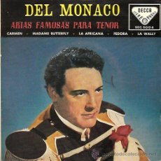 Discos de vinilo: MARIO DEL MONACO EP SELLO DECCA AÑO 1959. Lote 17012160