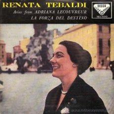 Discos de vinilo: RENATA TEBALDI EP SELLO DECCA AÑO 1959. Lote 17012168
