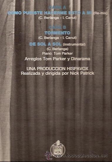 Discos de vinilo: ALASKA Y DINARAMA MAXI-SINGLE SELLO HISPAVOX AÑO 1984 - Foto 2 - 17012458