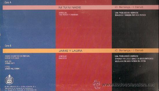 Discos de vinilo: ALASKA Y DINARAMA MAXI-SINGLE SELLO HISPAVOX AÑO 1985 - Foto 2 - 17012465