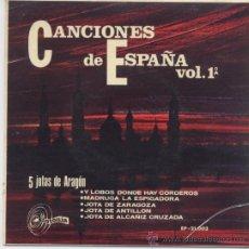 Discos de vinilo: CASA DE ARAGON CON RONDALLA,JOTAS DE ARAGON DEL 67. Lote 17035995