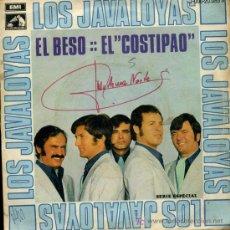 Discos de vinilo: LOS JAVALOYAS - EL BESO / EL COSTIPAO - SINGLE 1969. Lote 21920657
