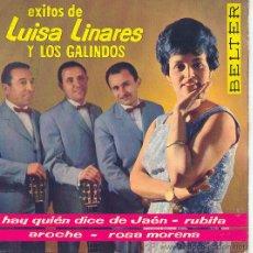Discos de vinilo: EXITOS DE LUISA LINARES Y LOS GALINDOS EP BELTER 1962. Lote 17137702