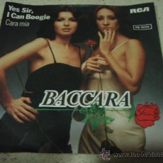 Disques de vinyle: BACCARA ( YES SIR, I CAN BOOGIE - CARA MIA ) 1977-GERMANY SINGLE45 RCA. Lote 17140451