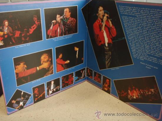 Discos de vinilo: JOAQUIN SABINA Y VICEVERSA EN DIRECTO con LUIS EDUARDO AUTE, JAVIER GURRUCHAGA, JAVIER KRABE, - Foto 3 - 17142147