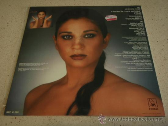 Discos de vinilo: LOLITA MADRUGADA 1991 - ESPAÑA LP33 MUSICALES HORUS - Foto 2 - 17144126