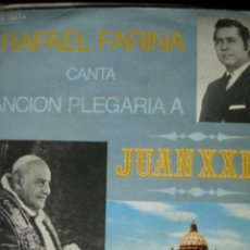 Discos de vinilo: RAFAEL FARINA CANTA A JUAN XXIII.1970. Lote 26380317