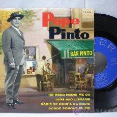 Discos de vinilo: PEPE PINTO 45 RPM. Lote 27021960