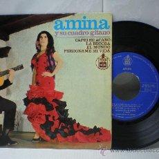 Discos de vinilo: AMINA Y SU CUADRO GITANO 45 RPM. Lote 27054553