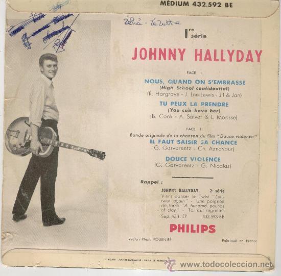 Discos de vinilo: JOHNNY HALLYDAY - IL FAUT SAISIR SA CHANCE - EP EDITADO EN FRANCIA - TEMAS EN PORTADA - Foto 2 - 27485486