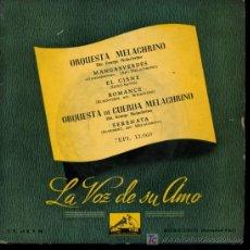Discos de vinilo: ORQUESTA MELACHRINO - MANGAS VERDES / EL CISNE / ROMANCE - EP 195? O 196?. Lote 17256005