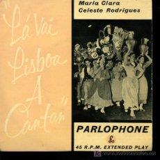 Discos de vinilo: MARÍA CLARA CELESTE RODRIGUES - MARCHA DE ALFAMA / MARCHA DO ALTO DO PINA, ETC - EP 1958 - INGLÉS. Lote 17261328