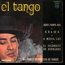 Discos de vinilo: MALANDO - ADIOS PAMPA MIA / CELOS / A MEDIA LUZ / EL ESCONDITE DE HERNANDO - EP 1966. Lote 17261654