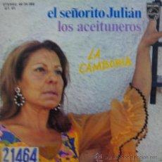 Discos de vinilo: LA CAMBORIA - EL SEÑORITO JULIÁN / LOS ACEITUNEROS - 1975 (PRODUCIDO POR LAUREN POSTIGO). Lote 26478868