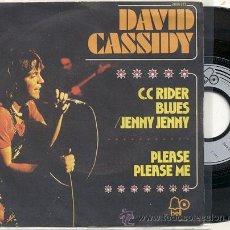 Discos de vinilo: SINGLE 45 RPM / DAVID CASSIDY ( THE BEATLES ) PLEASE PLEASE ME /// EDITADO POR BELL . Lote 17277359