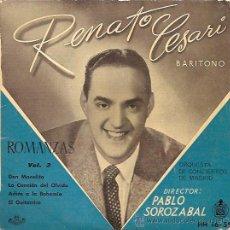 Discos de vinilo: RENATO CESARI (BARITONO) EP SELLO HISPAVOX AÑO 1959 ROMANZAS DE ZARZUELA VOL.3. Lote 17289525